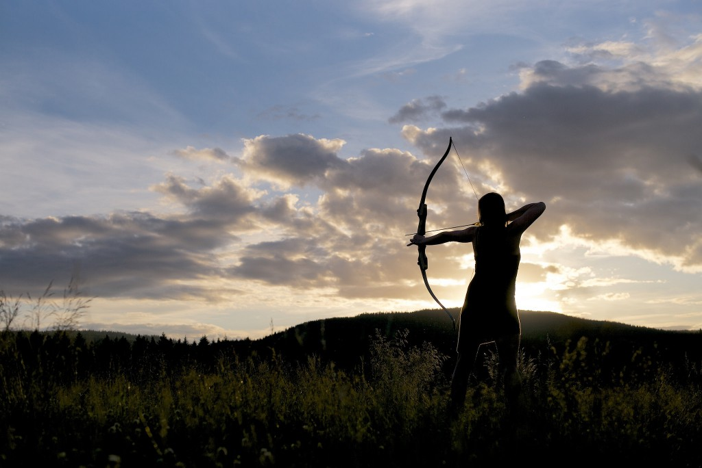 Archer With Recurve Bow