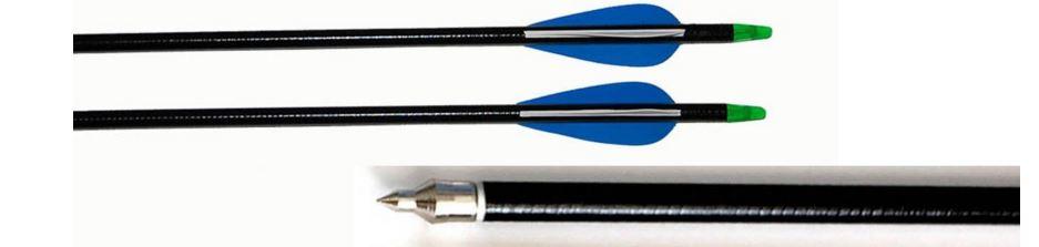 blue fiberglass arrows
