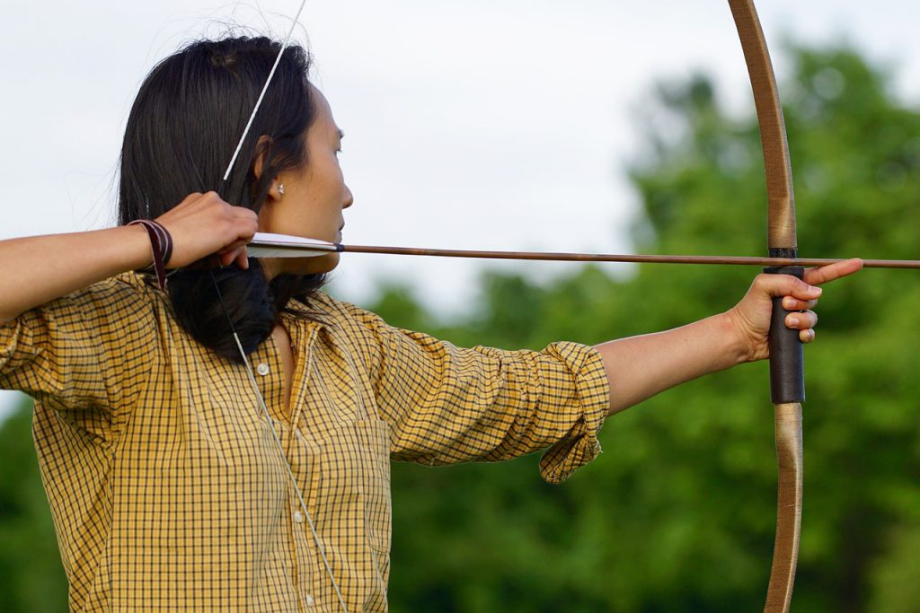 Traditional Wooden Arrows For Hunting Or Target Practice