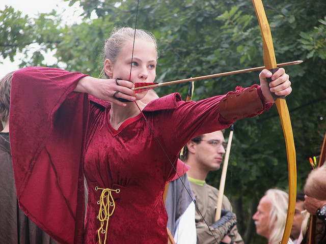 woman with longbow