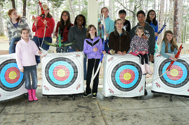 Group of young archers